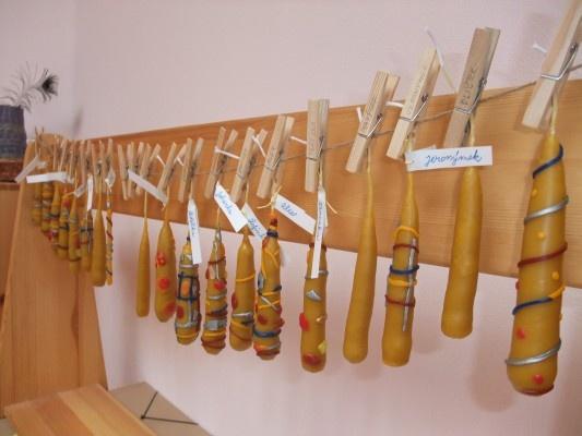 Hromnice a ručně dělané voskové svíčky
