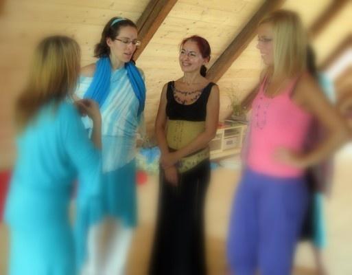 Surya a Monika na Kubasově chalupě