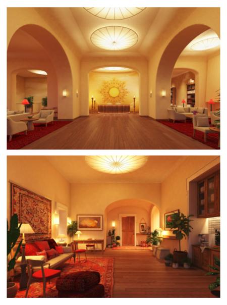 Připravovaná podoba interiéru Slunečních lázní.