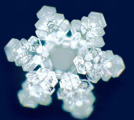 Zharmonizovaný krystal vody z pokusů Masaru Emota. (Jsme ze 70 % voda.) Zdroj: http://sooryayogusa.org/